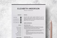 Resume Template | CV Cover Letter - Elizabeth Anderson Product Image 1