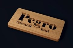 Pegro Stencil Font Product Image 5