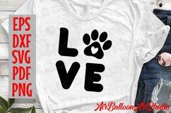 Paw Print Svg Love Paw Svg Love Dog Svg Paw Print Dog Svg Product Image 2
