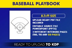 Baseball Playbook - KDP Interior Editable Powerpoint File Product Image 2