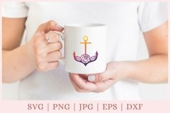 Floral Anchor SVG, Nautical SVG file Product Image 2