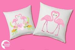 Flamingos clipart mega pack, graphics, illustrations AMB-1047 Product Image 3