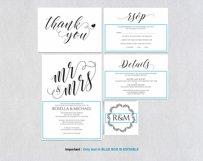 Wedding invitation set landscape, TOS_4 Product Image 4