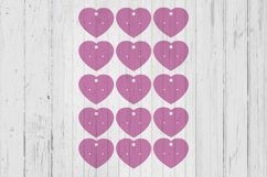 Heart earring cards template dxf svg png ai files Product Image 1