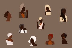 Black Girl Clipart, portrait vector, abstract woman, female Product Image 2