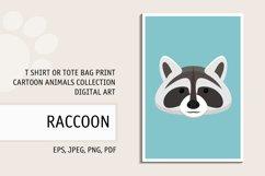 Raccoon Pattern. Raccoon T Shirt Print. Raccoon Clipart. Product Image 1