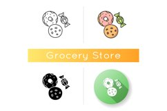 Cookie and candy icon Product Image 1