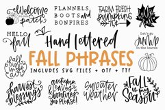 Fall Phrases - SVG and Symbols Font Product Image 1