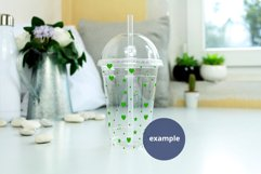 Clear Plastic cup mockup PSD, Acrylic tumbler PSD mockup JPG Product Image 2