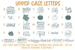 Fall Phrases - SVG and Symbols Font Product Image 3