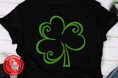 Shamrock svg Lucky shirt Png St. Patricks day decor Irish Product Image 1