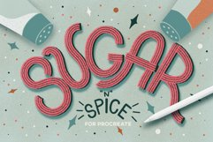 SUGAR & SPICE LETTERING SET FOR PROCREATE Product Image 1