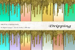 Dripping Digital Papers Product Image 1