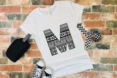 Aztec Alphabet SVG | Alphabet Letters SVG Product Image 3