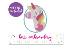 Unicorn Applique Machine Embroidery Design Product Image 1
