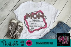 Definition of Mom Sublimation Printable Product Image 1
