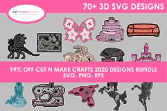 MEGA 3D SVG Bundle with 78 SVG Designs Product Image 1