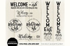 Welcome-ish SVG Porch Sign SVG Front Door Decor SVG Welcome Product Image 1
