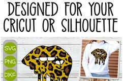 Cheetah Melting Lips - A Layered Cricut SVG Product Image 2