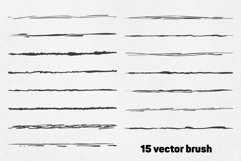 Vector sketch brushes illustrator Product Image 2