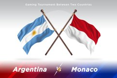 Argentina vs Monaco Two Flags Product Image 1