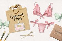 Lingerie Watercolor 13 Elements Perfume Panties Bras Lace Product Image 3