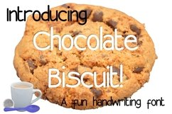 Chocolate Biscuit Font. Product Image 1