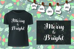 Merry And Bright SVG, Christmas Tree SVG, Christmas SVG Product Image 2