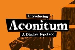Web Font Aconitum Product Image 1