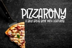 Web Font Pizzarony - A Silly Sans Serif With Ligatures Product Image 2