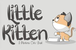 Little Kitten - A Modern Cute Font Product Image 1