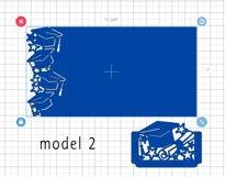 Graduation invitation template, Graduation 2021 svg Product Image 4