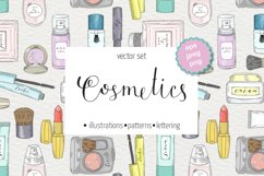 Hand drawn vector cosmetics set. Makeup. Product Image 1