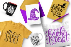 Halloween hand drawn Quotes SVG Cut files Product Image 3