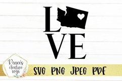 Washington love with heart | State SVG | SVG Cutting file Product Image 2