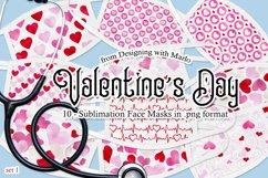 Valentine's Day Face Mask Designs - set 1, Sublimation PNG Product Image 1