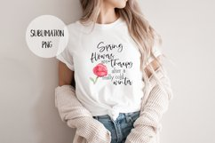 SPRING Flowers are Therapy... Sublimation Watercolor Product Image 1