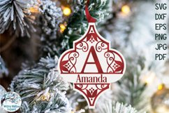 Arabesque Split Alphabet Christmas Ornament SVG Bundle Product Image 3