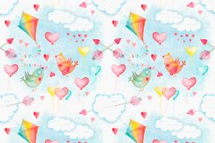 Watercolor sky cute seamless pattern Product Image 3