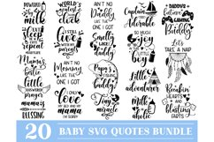 Baby SVG Bundle, New Born Baby SVG, Cute Baby Sayings Product Image 1