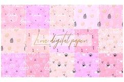 Love Digital Paper.Wedding, Valentines Day Digital Paper Product Image 2