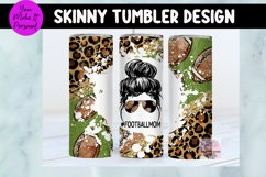 Tumbler Bundle, Messy Bun Designs with Sports Themes Product Image 6
