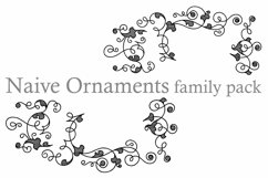 Naive Ornaments Family Pack (seven fonts) Product Image 6