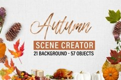 Autumn and Thanksgiving scene creator Product Image 3
