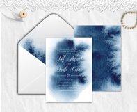 Indigo Watercolor Wedding Invitation suite Product Image 3