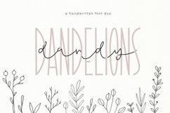 Dandy Dandelions - Handwritten Script & Print Font Duo Product Image 1