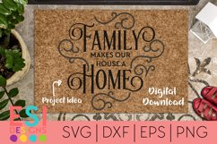 Home SVG | Family Makes Our House A Home| SVG, DXF, EPS, PNG Product Image 1