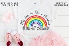 Love like a Rainbow SVG, Valentine's cut file, Love svg Product Image 5