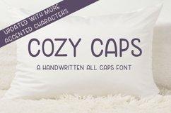 Cozy Caps - A handwritten all caps font Product Image 1
