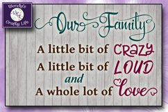 Our Family wall quote or sign - SVG - PNG - PDF - Jpeg Product Image 3
